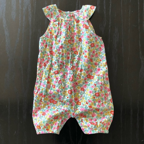 87d3c8bffd Boden Other - Baby Boden Multi-color Floral Playsuit 12-18mo